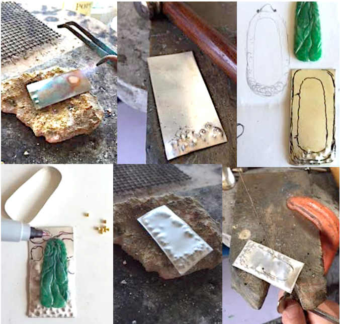 Anew Light_Jade_Silver_Gold Pendant_POPPYOR Custom.Fabrication.1