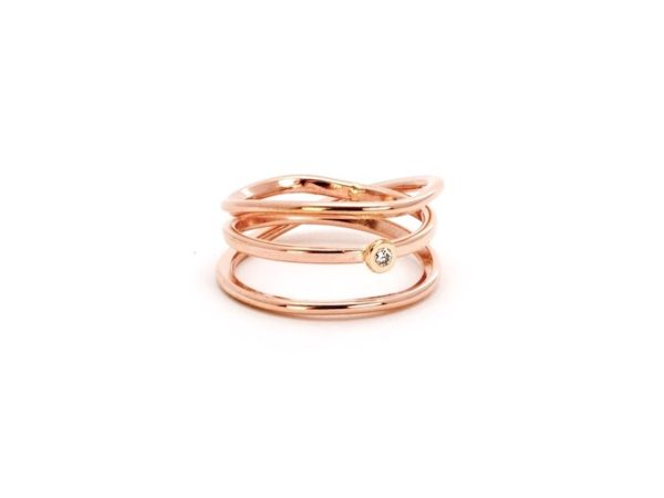 wrap ring rose gold diamond